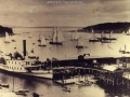 Bar Harbor pier in 1900