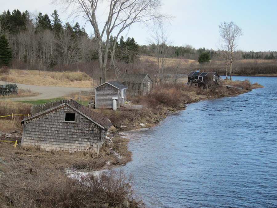 Fish houses on Pleasant River