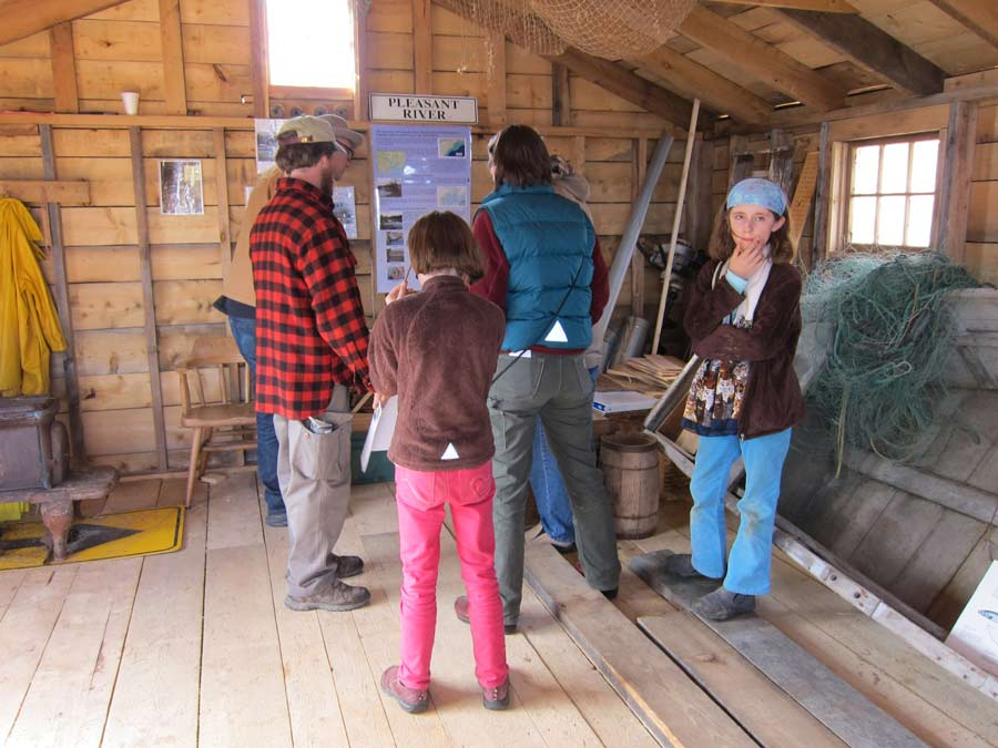 Restored fish house interior