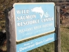 Wild Salmon Resource Center signage