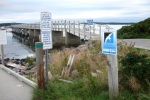 Jonesport wharf signs