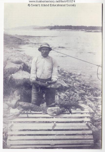 Lobsterman holding huge lobster