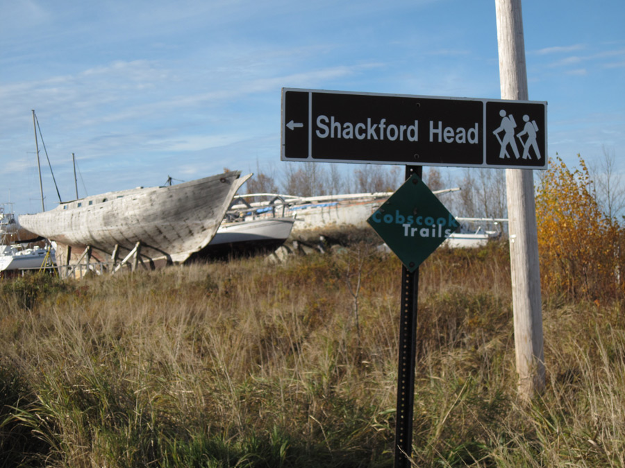 Shackford Head road sign