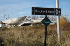Shackford Head road sign
