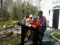 Kids learning about alewives